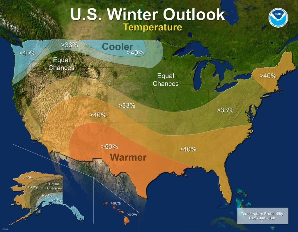 a warmer, drier socal winter might be on tap