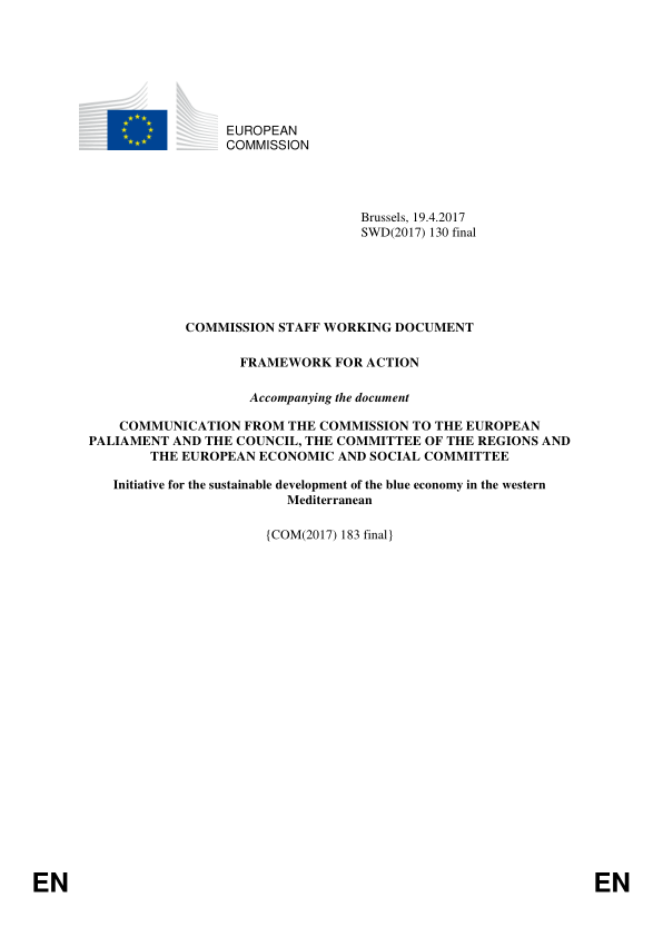 Initiative for sustainable development of the blue economy in western Mediterranean