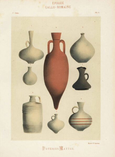 Amphora and other vessels from the ancient Greco-Roman period.