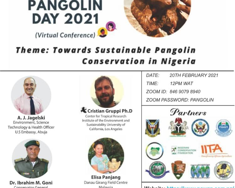 cristian gruppi presents at world pangolin day nigeria conference