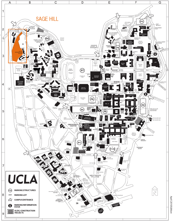 Map of Sage Hill at UCLA