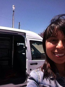Carranza on the road trip that changed her life.