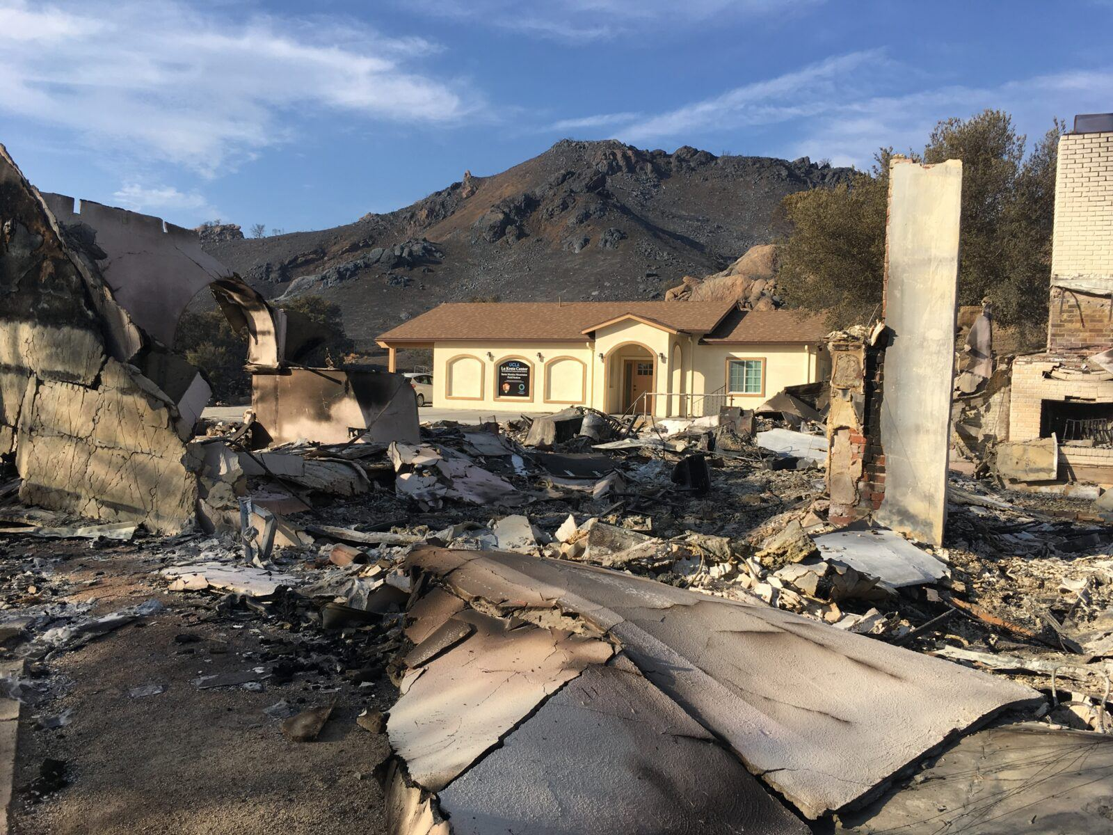 one of two buildings at ucla research station burned in woolsey fire