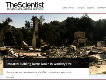 research building burns down in the woolsey fire