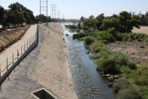 The Los Angeles River at the Glendale Narrows.
