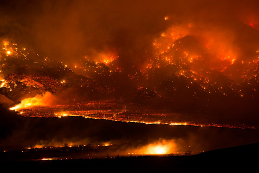 The 2015 Round Fire turned the area around Swall Meadows, CA into a raging inferno.