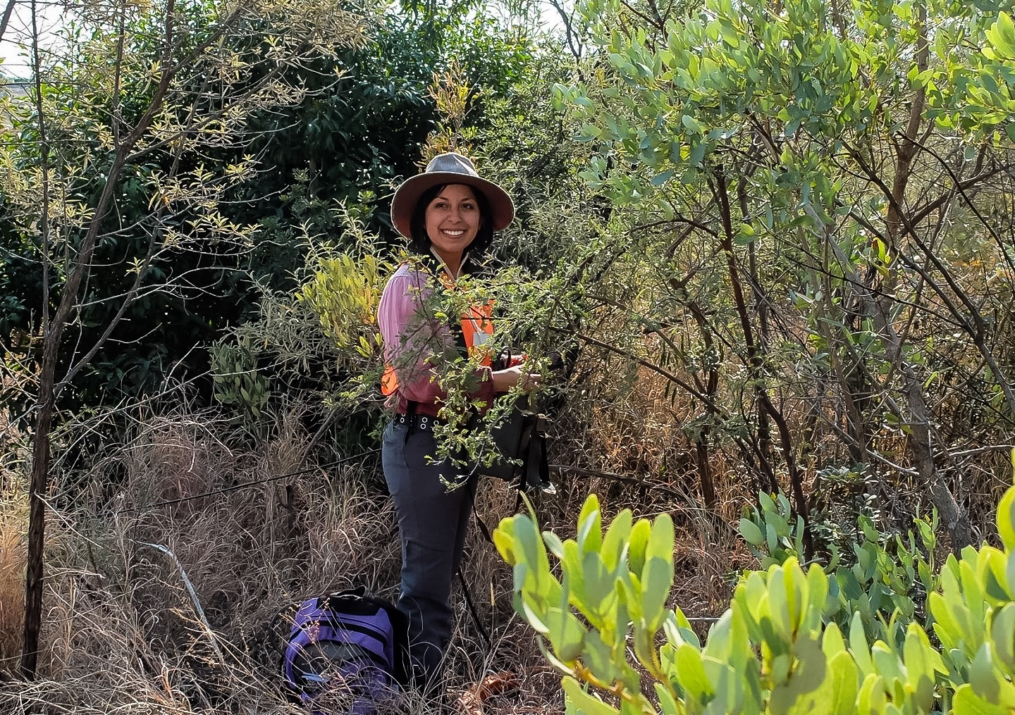 Carranza conducts research in the Bushveld region of South Africa.