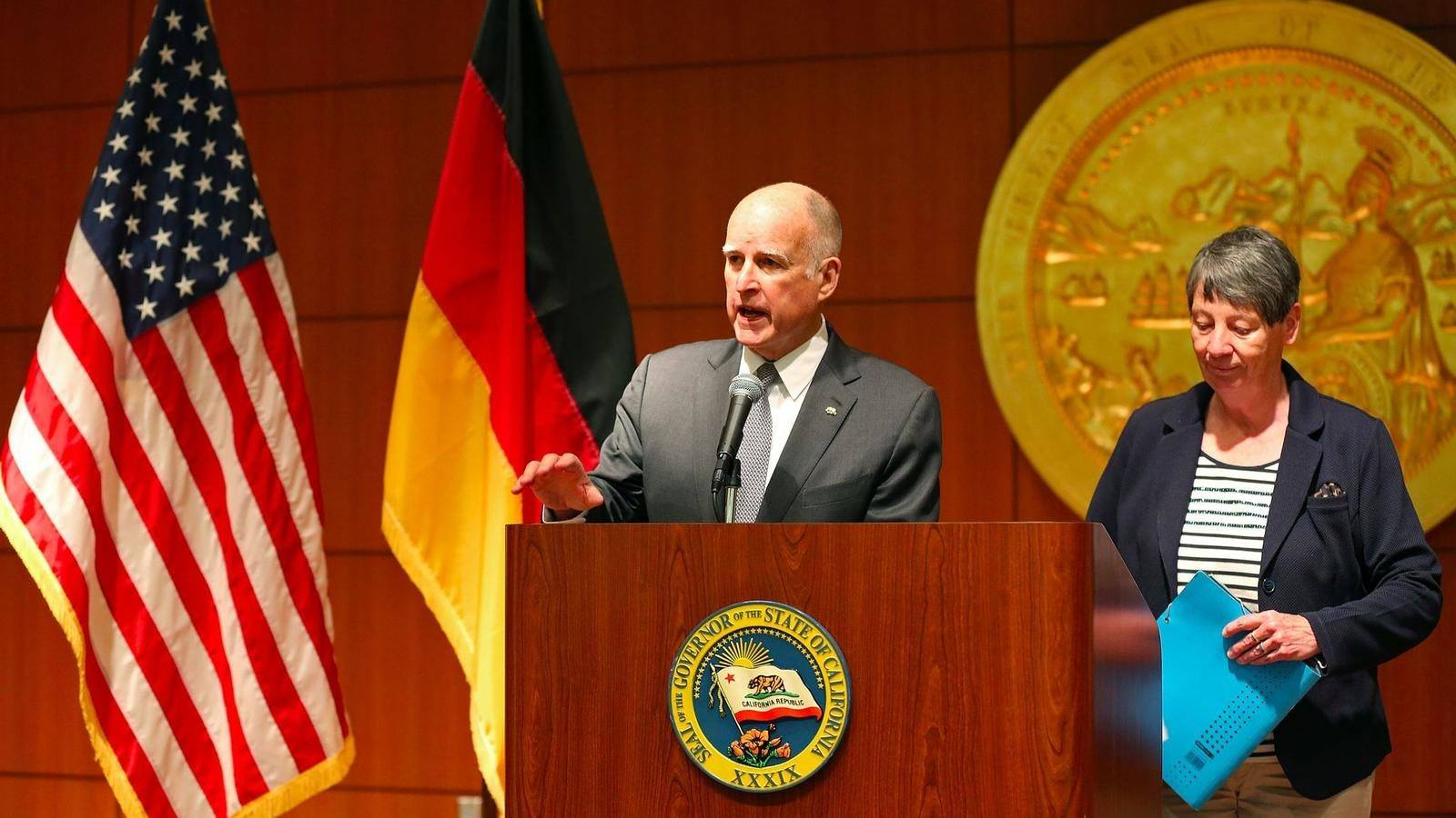 gov. brown unveils plan for global climate summit, further undercutting trump's agenda