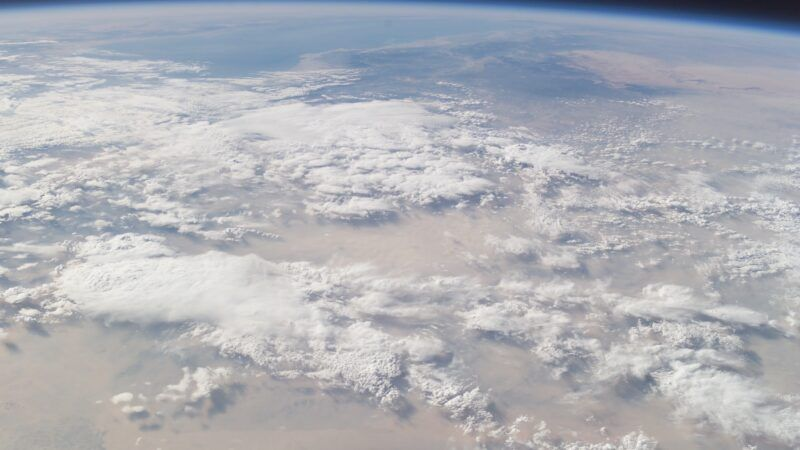 astronaut photo nasa clouds