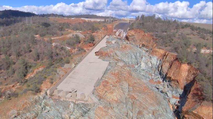 climate change contributed to oroville spillway collapse, study says