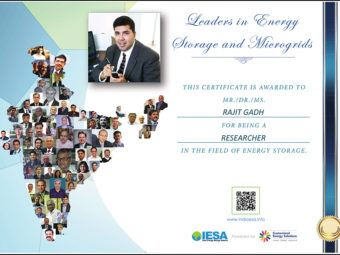 "rajit gadh named by iesa one of the ""50 most influential indians in energy storage and micro-grids"""
