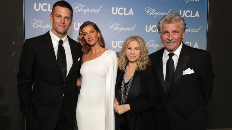 Tom Brady, Gisele Bundchen, Barbra Streisand and James Brolin