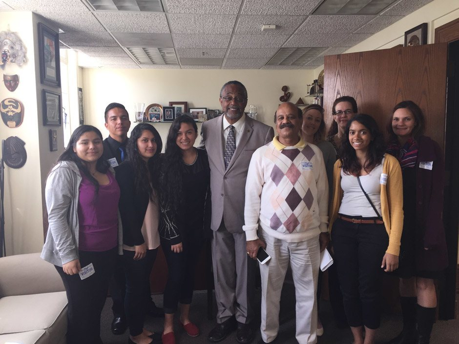 Jhs students with councilmember curren price