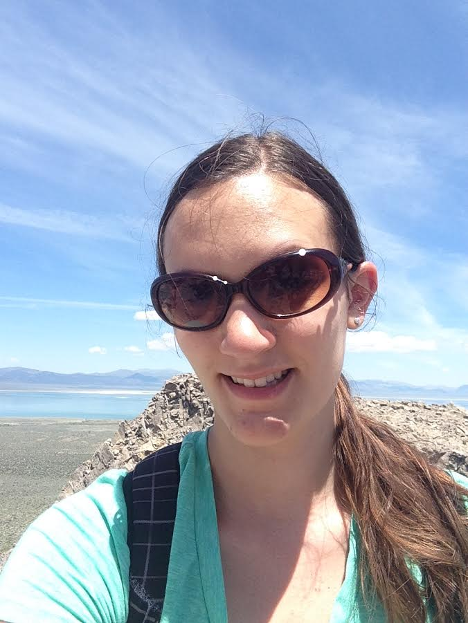 Kristina Louie in 2000, on Vancouver Island to collect fish specimens.