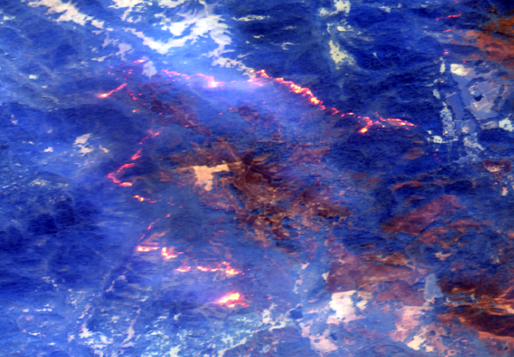 five of the best california wildfire pictures from space