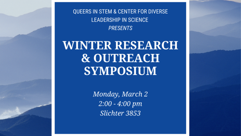 qstem & cdls winter outreach and research symposium