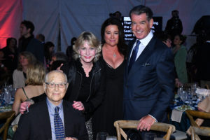 Norman and Lyn Lear,   Keely Shaye and Pierce Brosnan.
