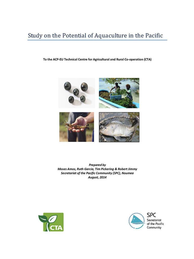 Study of the Potential of Aquaculture in the Pacific
