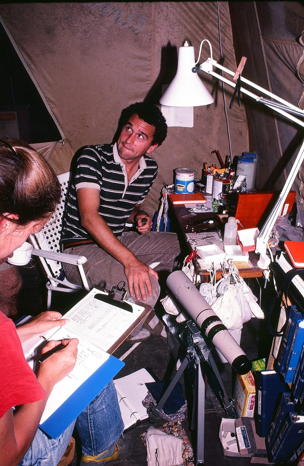 In the mid 1980s, Tom Smith spent three months researching the seedcracker from a tent in the rainforest.